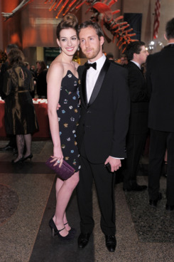 Actress Anne Hathaway and Adam Shulman.