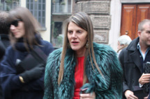 Vogue Nippon editor Anna dello Russo arrives at the Jil Sander show during Milan Fashion Week Menswear Autumn/Winter 2009 on January 17, 2009 in Milan, Italy.