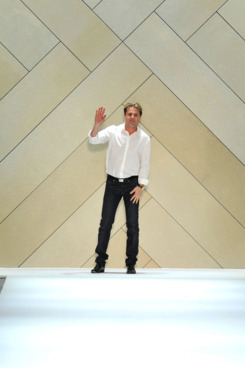 Designer Adam Lippes walks the runway at the Adam Fall 2011 fashion show during Mercedes-Benz Fashion Week.