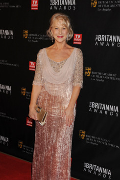 BEVERLY HILLS, CA - NOVEMBER 30: Helen Mirren arrives at the 2011 BAFTA Britannia Awards at The Beverly Hilton hotel on November 30, 2011 in Beverly Hills, California. (Photo by Jeffrey Mayer/WireImage)
