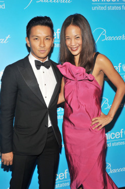 Designer Prabal Gurung (L) and Maggie Betts attend 2011 UNICEF Snowflake Ball at Cipriani 42nd Street on November 29, 2011 in New York City.