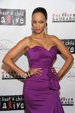 TV personality Tyra Banks attends the 8th annual Keep A Child Alive Black Ball at the Hammerstein Ballroom on November 3, 2011 in New York City.