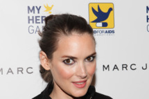 Actress Winona Ryder attends the 2011 AID For AIDS International's My Hero gala at Three Sixty on November 8, 2011 in New York City.