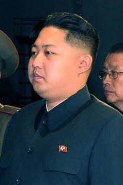** ALTERNATE CROP OF TOK807 ** In this undated photo released by Korean Central News Agency via Korea News Service Saturday, Oct. 9, 2010, Kim Jong Un the third son of North Korean leader Kim Jong Il inspects the newly-built State Theater in Pyongyang, North Korea's capital. (AP Photo/Korean Central News Agency via Korea News Service)  ** SOUTH KOREA OUT *