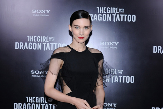 "Rooney Mara attends the ""The Girl With the Dragon Tattoo"" New York premiere at Ziegfeld Theater on December 14, 2011."