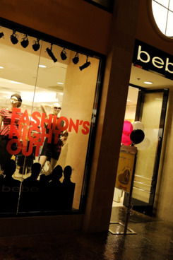 Customers walk by a Bebe stor on September 8, 2011 in Las Vegas, Nevada.
