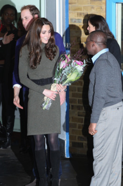 LONDON, ENGLAND - DECEMBER 21:  Prince William, Duke of Cambridge and Catherine, Duchess of Cambridge visit homeless charity 'Centrepoint' in Camberwell on December 21, 2011 in London, England.  (Photo by Chris Jackson/Getty Images)