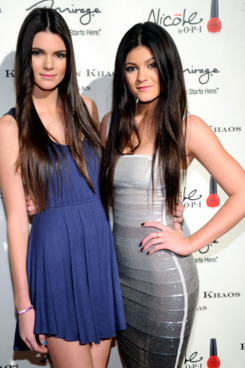 Television personalities Kendall Jenner (L) and Kylie Jenner