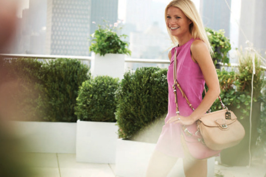 Gwenyth Paltrow in a 2012 Coach ad shot by Peter Lindbergh.