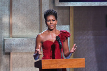 First Lady Michelle Obama speaks at BET Honors 2012 at the Warner Theatre on January 14, 2012 in Washington, DC.