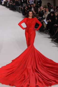 A model walks the runway during the Stephane Rolland Spring/Summer 2012 Haute-Couture Show