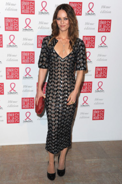 Vanessa Paradis attends the Sidaction Gala Dinner 2012