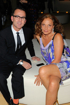 NEW YORK, NY - NOVEMBER 14:  (L-R) Executive Director CFDA Steven Kolb and fashion designer Diane von Furstenberg attend the 8th Annual CFDA/Vogue Fashion Fund Awards at the Skylight SOHO on November 14, 2011 in New York City.  (Photo by Andrew H. Walker/Getty Images)