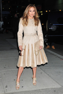 Jennifer Lopez arrives at 'The Late Show with David Letterman ' in NYC.