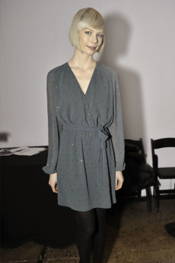 Erin Fetherston backstage at the Erin by Erin Fetherston Fall 2012 presentation