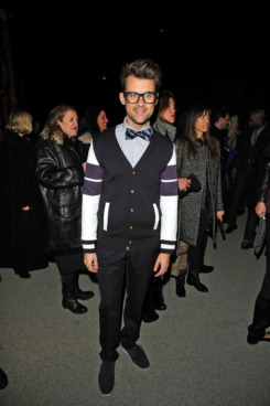 Brad Goreski== Tommy Hilfiger Womens Fall 2012 Fashion Show== Park Avenue Armory N.Y.C.== February 12, 2012.