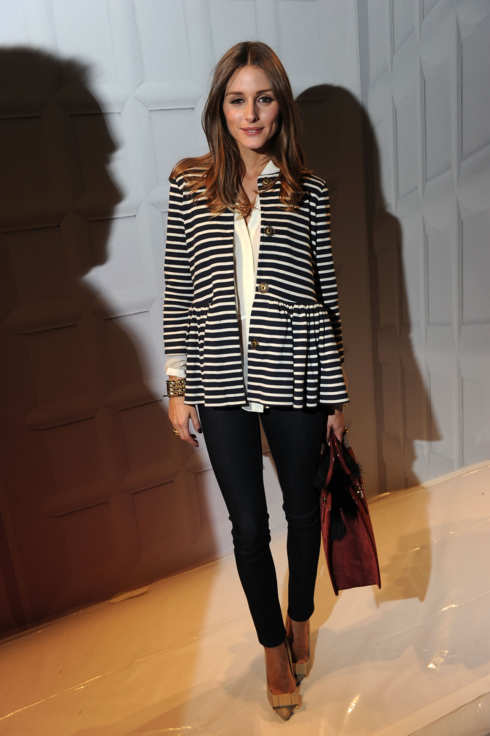 Olivia Palermo attends the Tibi Fall 2012 fashion show during Mercedes-Benz Fashion Week at The Stage at Lincoln Center on February 11, 2012 in New York City.
