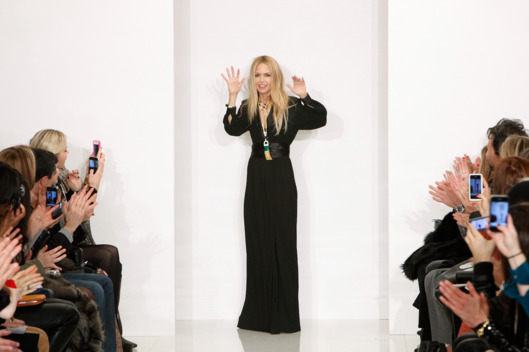 NEW YORK - FEBRUARY 11:  Designer Rachel Zoe on the runway at the Rachel Zoe Autumn Winter 2012 fashion show during New York Fashion Week on February 11, 2012 in New York City.  (Photo by Amy Sussman/Getty Images)