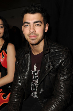 NEW YORK, NY - FEBRUARY 15:  Joe Jonas attends the Jeremy Scott fall 2012 fashion show during Mercedes-Benz Fashion Week at Milk Studios on February 15, 2012 in New York City.  (Photo by Craig Barritt/Getty Images)
