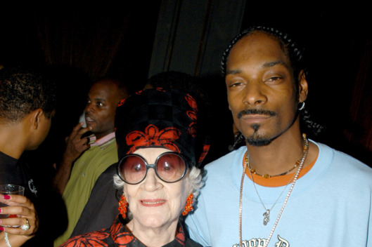Zelda Kaplan and Snoop Dogg