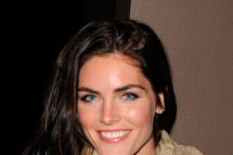 "Model Hilary Rhoda attends the Cinema Society & Dior Beauty screening of ""Young Adult"" at the Tribeca Grand Screening Room on November 18, 2011 in New York City."