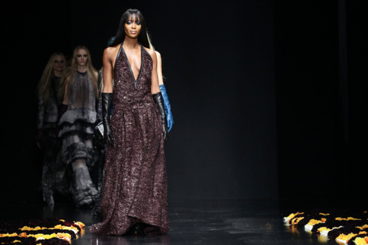Naomi Campbell walks the runway at the Roberto Cavalli Autumn/Winter 2012/2013 fashion show