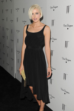 Actress Agyness Deyn arrives at the W Magazine Best Performances Issue and The Golden Globes celebration