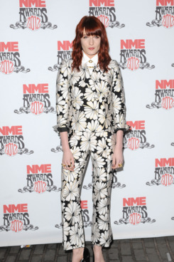 The NME Awards 2012, O2 Academy Brixton, London. <P> Pictured: Florence Welch <P> <B>Ref: SPL366579  290212  </B><BR/> Picture by: James Higgins / Splash News<BR/> </P><P> <B>Splash News and Pictures</B><BR/> Los Angeles:	310-821-2666<BR/> New York:	212-619-2666<BR/> London:	870-934-2666<BR/> photodesk@splashnews.com<BR/> </P>