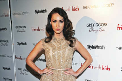 "Actress Megan Fox attends the Cinema Society & People StyleWatch with Grey Goose screening of ""Friends With Kids"""