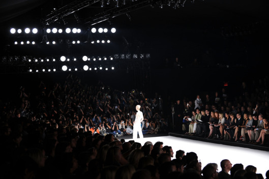 A general view of atmosphere at the Narciso Rodriguez Spring 2012 fashion show