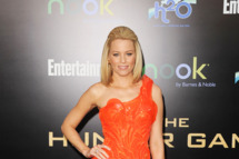 Actress Elizabeth Banks arrives at the premiere of Lionsgate's 'The Hunger Games'