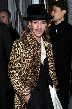 NEW YORK, NY - DECEMBER 08:  Designer Designer John Galliano attends the Dior celebration of the reopening of its 57th Street Boutique at the LVMH Tower Magic Room on December 8, 2010 in New York City.  Galliano attends the Dior celebration of the reopening of its 57th Street Boutique at the LVMH Tower Magic Room on December 8, 2010 in New York City.  (Photo by Jason Kempin/Getty Images)