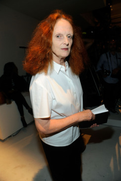 VOGUE's Grace Coddington attends the Calvin Klein Collection Spring 2012 fashion show during Mercedes-Benz Fashion Week at 205 West 39th Street on September 15, 2011 in New York City.