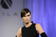 A model walks the runway for the Mila Hermanovski Runway Show