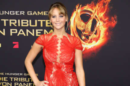 Jennifer Lawrence attending premiere of the movie 'The Hunger Games' ('Die Tribute von Panem?) at Cinestar movie theatre. Berlin, Germany