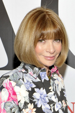 "Anna Wintour attends the exhibition opening night gala for ""Impact: 50 Years of the CFDA"" at The Fashion Institute of Technology on February 9, 2012 in New York City."