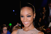 Jourdan Dunn attends the MOBO Awards 2011 at the SECC on October 5, 2011.