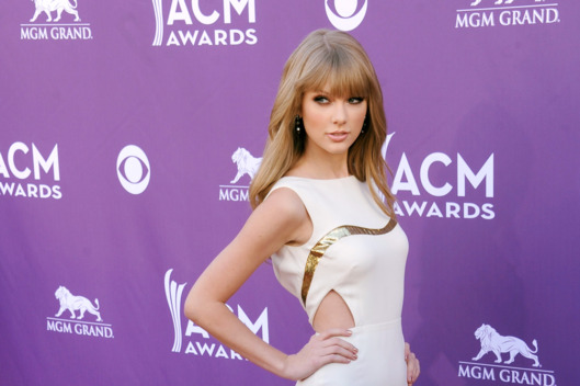 Actress/singer Taylor Swift arrives at the 47th Annual Academy Of Country Music Awards at MGM Grand Garden Arena on April 1, 2012 in Las Vegas, Nevada.