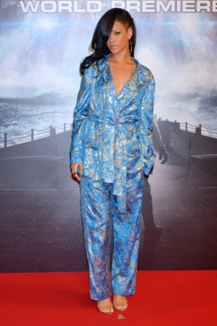 Actress/singer Rihanna attends the 'Battleship' Japan Premiere at International Yoyogi first gymnasium on April 3, 2012 in Tokyo, Japan.