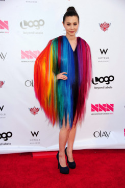 "Actress China Chow attends Logo's ""NewNowNext Awards"" 2012 at Avalon on April 5, 2012 in Hollywood, California."