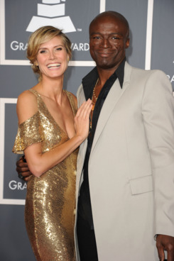 Model Heidi Klum and singer Seal arrive at The 53rd Annual GRAMMY Awards held at Staples Center on February 13, 2011 in Los Angeles, California.