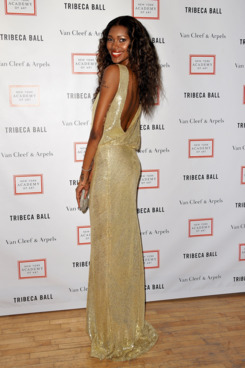 Model Jessica White attends the Tribeca Ball 2012 at New York Academy of Art on April 16, 2012 in New York City.