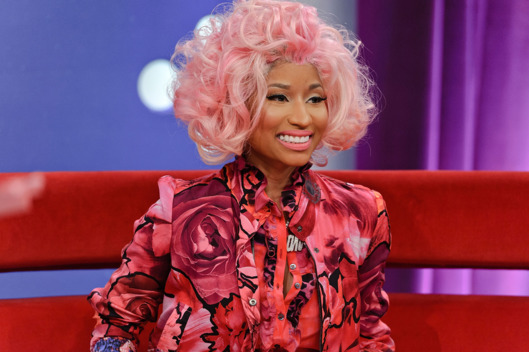"NEW YORK, NY - APRIL 02:  Nicki Minaj visits BET's ""106 & Park"" at the BET Studios on April 2, 2012 in New York City."