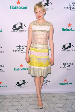 "Actress Michelle Williams attends Tribeca Film Festival 2012 After-Party For ""Take This Waltz"", Hosted By Heineken on April 22, 2012 in New York City."