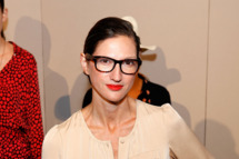 NEW YORK, NY - SEPTEMBER 13:  Creative Director and President of J. Crew Jenna Lyons poses on the runway at the J.Crew Spring 2012 fashion show during Mercedes-Benz Fashion Week at The Stage at Lincoln Center on September 13, 2011 in New York City.  (Photo by Cindy Ord/Getty Images for Mercedes-Benz Fashion Week)
