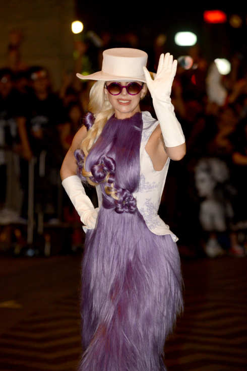 Lady Gaga arrives at the Ritz Carlton