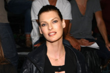 Model Linda Evangelista attends the Alexander Wang Spring 2012 fashion show