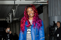 Azealia Banks attends the Topshop Unique show