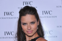 Model Adriana Lima attends the IWC Flagship Boutique New York City Grand Opening