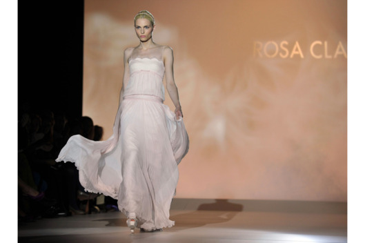 BARCELONA, SPAIN - MAY 08:  Andrej Pejic walks the runway 'Rosa Clara ' during 'Rosa Clara Barcelona Bridal Week 2012' on May 8, 2012 in Barcelona, Spain.  (Photo by Europa Press/Europa Press via Getty Images)